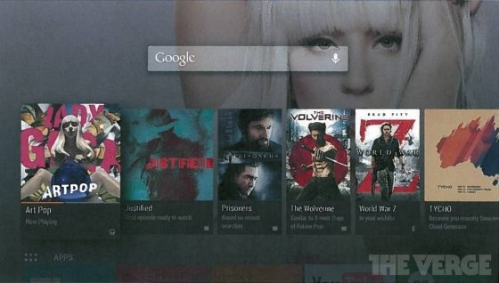 Captura de pantalla de Android TV