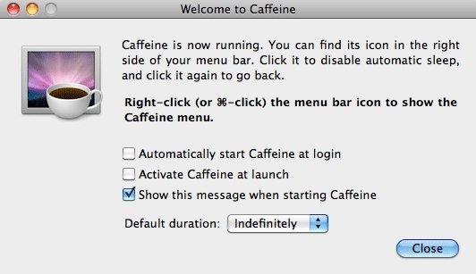 Caffeine evita que tu ordenador se quede dormido y así puedes mejorar y aumentar la productividad de