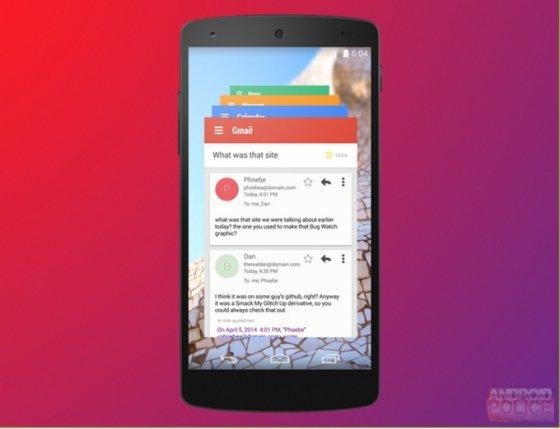 Imagen de la interfaz de Project Hera publicada por Android Police