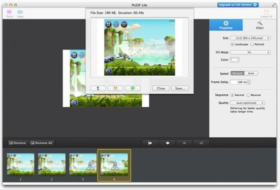 Salva el resultado pulsando Create GIF