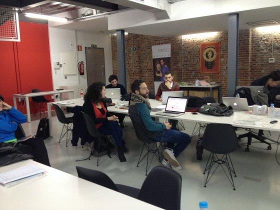 Clase en el bootcamp de Inronhack