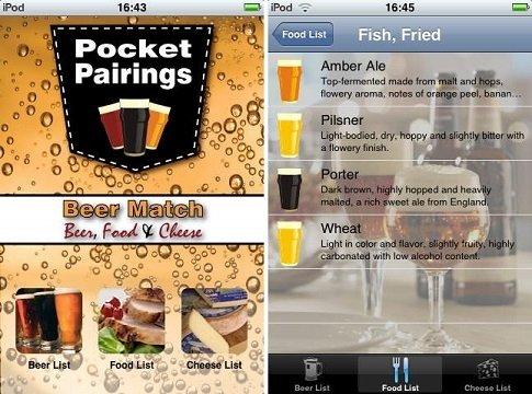 Interfaz de Beer Match