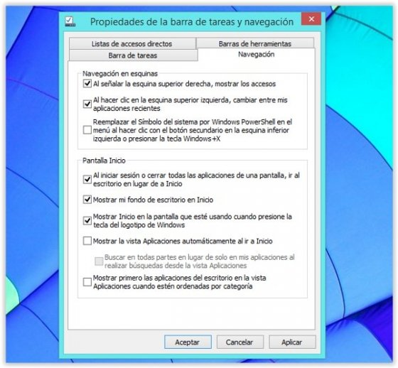 Escritorio de Windows 8.1