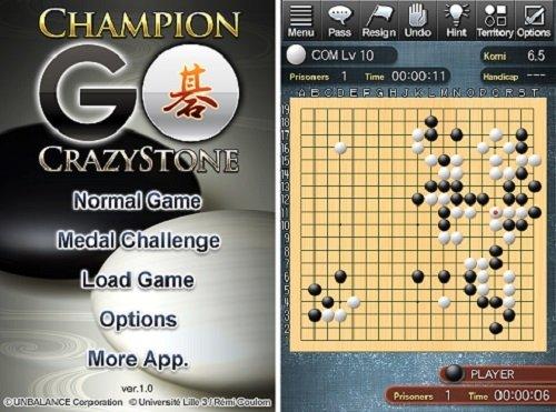 Interfaz de Champion Go