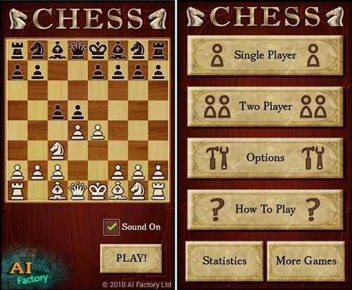 Interfaz de Chess Free