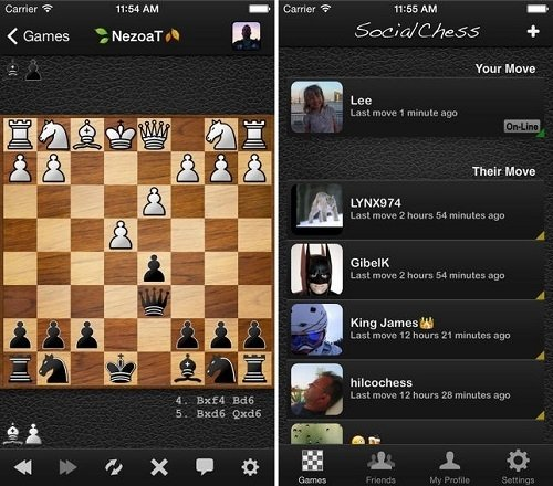 Interfaz de Social Chess