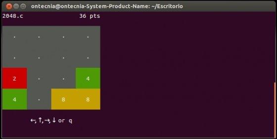 Jugar al 2048 en el terminal de Ubuntu