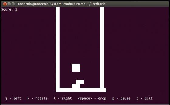 Jugar al Tetris en el terminal de Ubuntu