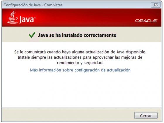 Java para Minecraft instalado