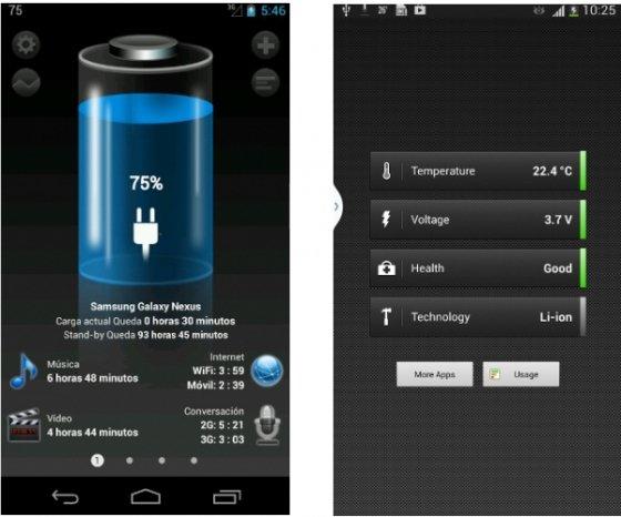 Aplicaciones para administrar la batería de Android