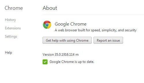Tenemos la última versión de Chrome