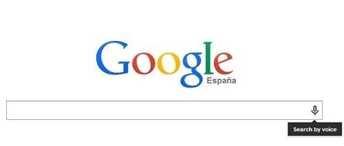 Cómo realizar una búsqueda de voz desde la página de Google España