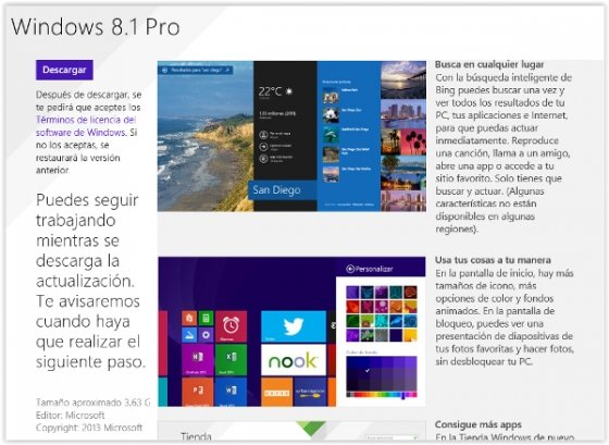 Windows 8.1 en Windows Store
