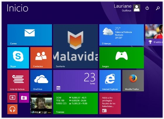 Modern UI de Windows 8.1