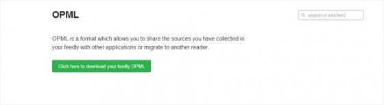 Exportar en feedly