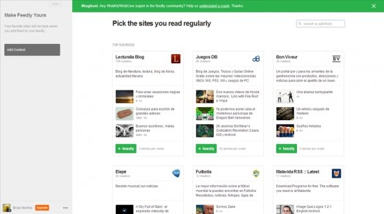 feedly en Firefox