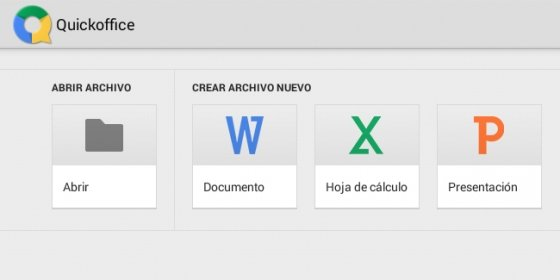 Captura de QuickOffice en una tableta Android