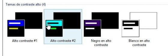 Cambiar Windows a alto contraste