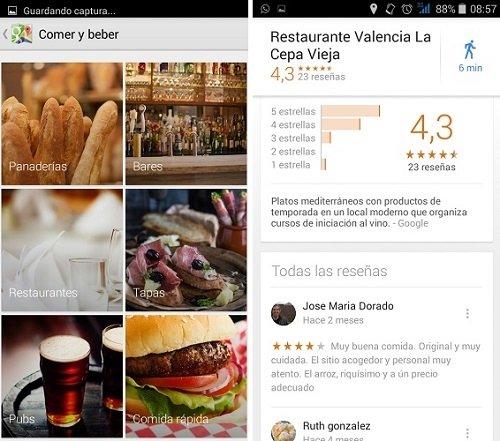 Reseñas y valoraciones de los sitios recomendados