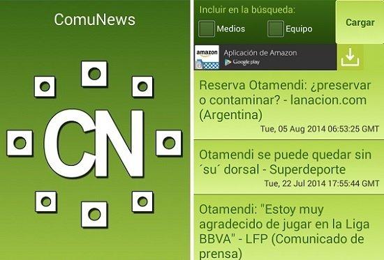 Interfaz de ComuNews
