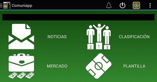 Interfaz de Comuniapp