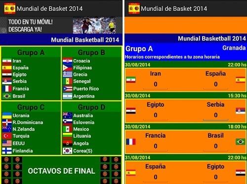 Interfaz de Copa Mundial de Basket 2014