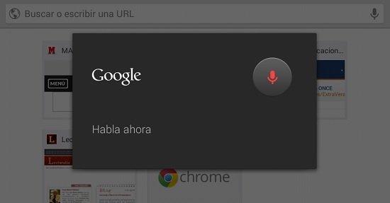 Búsqueda de voz en Chrome