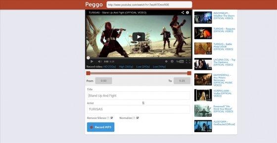 Grabar MP3 desde youtube