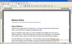 AbiWord Изображение 1 Thumbnail