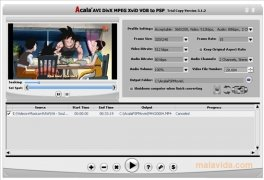 Acala AVI DivX MPEG XviD VOB to PSP image 1 Thumbnail