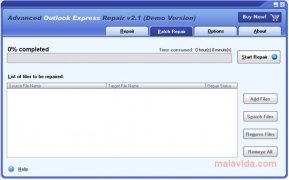 Advanced Outlook Express Repair imagen 1 Thumbnail