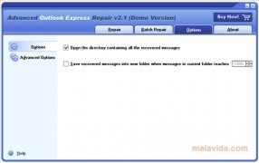 Advanced Outlook Express Repair imagen 3 Thumbnail