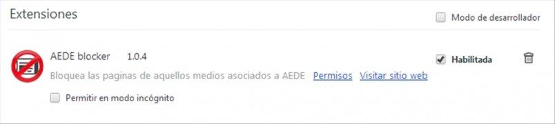 AEDE blocker imagen 2 Thumbnail
