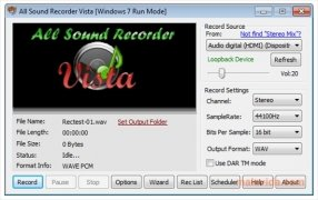 All Sound Recorder Vista immagine 2 Thumbnail