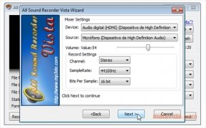 All Sound Recorder Vista immagine 6 Thumbnail