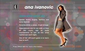 Ana Ivanovic Screensaver imagem 5 Thumbnail