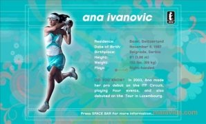 Ana Ivanovic Screensaver Изображение 6 Thumbnail