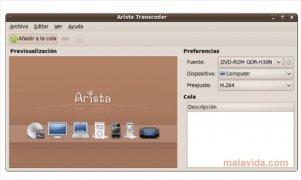 Arista Transcoder imagen 1 Thumbnail