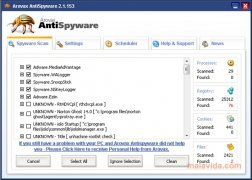 Arovax AntiSpyware imagen 1 Thumbnail