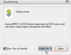 Aurora MPEG to DVD Burner imagem 6 Thumbnail