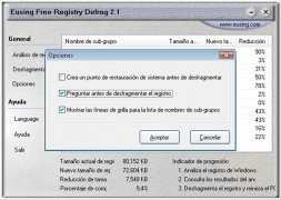 Eusing Free Registry Defrag imagen 4 Thumbnail