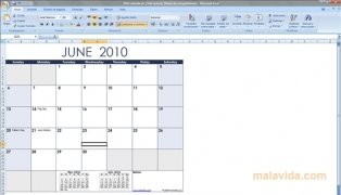 Excel Calendar Template image 1 Thumbnail