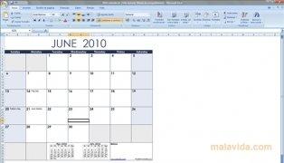 Excel Calendar Template imagem 1 Thumbnail