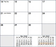 Excel Calendar Template imagem 3 Thumbnail