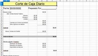 Excel Cuadre de Caja diario imagen 1 Thumbnail