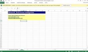 Excel Presupuesto Familiar imagen 2 Thumbnail