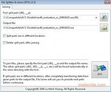 File Splitter and Joiner imagen 2 Thumbnail