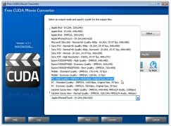 Free CUDA Movie Converter immagine 3 Thumbnail