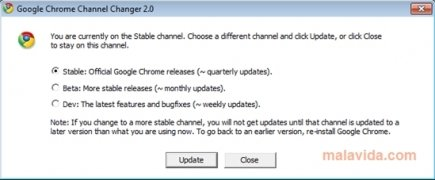 Google Chrome Channel Chooser  2.0 imagen 1