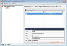 Incredimail Backup PRO image 2 Thumbnail